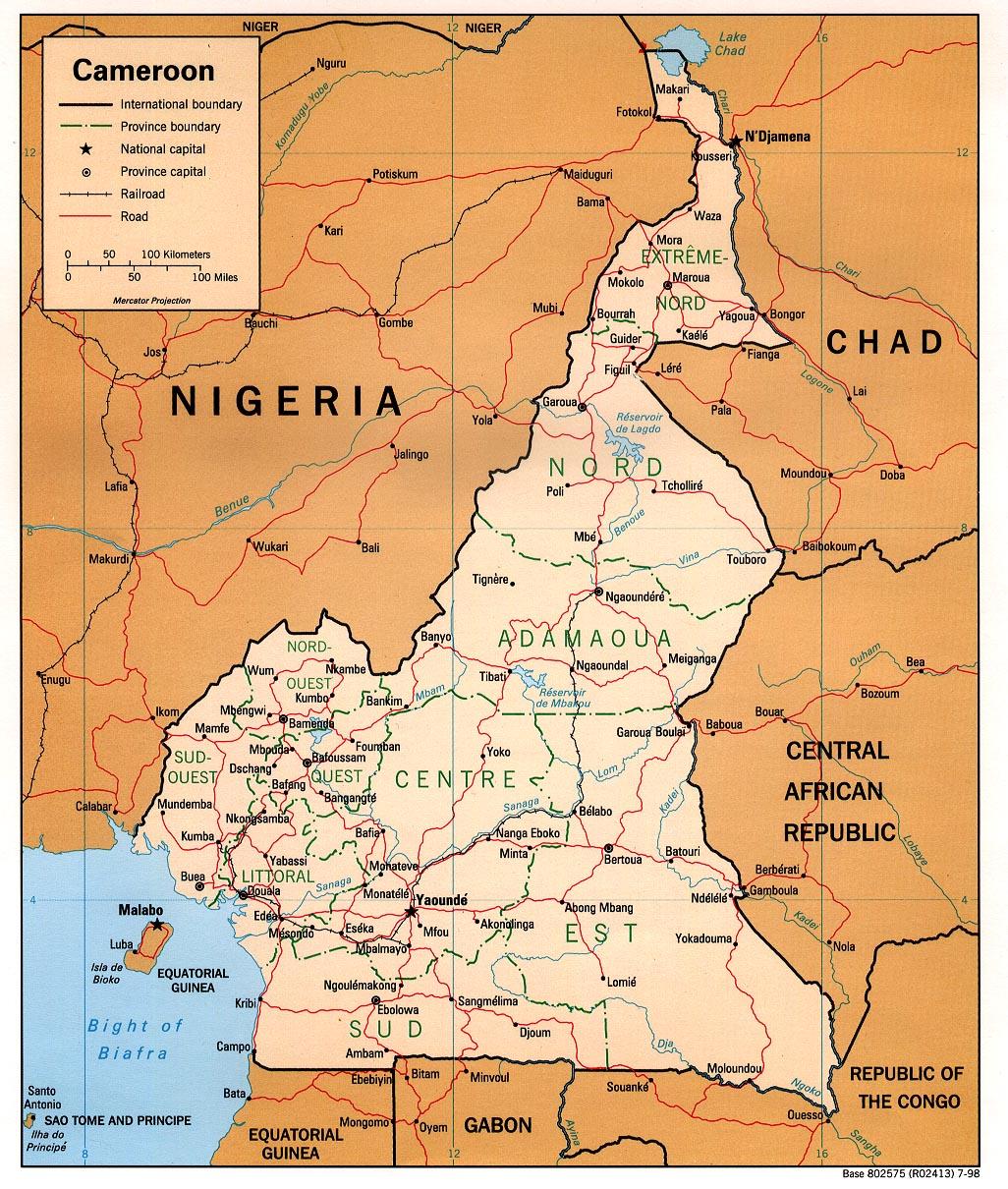 WPS Port of Douala satellite map