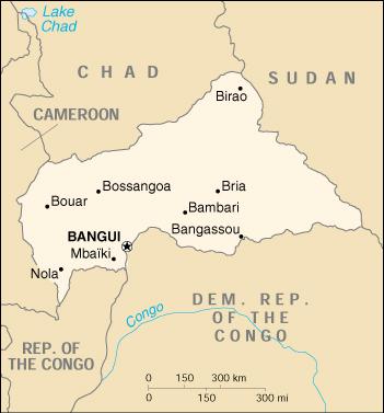 WPS Port of Bangui satellite map