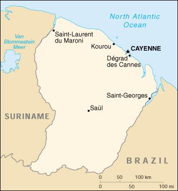WPS Port of St Laurent du Maroni satellite map