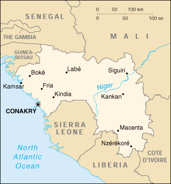 WPS Port of Conakry satellite map