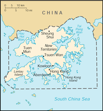 WPS - Port of Hong Kong satellite map