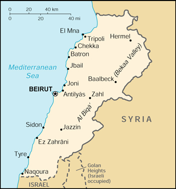 Wps port of beirut satellite map maps of lebanon small large gumiabroncs Image collections