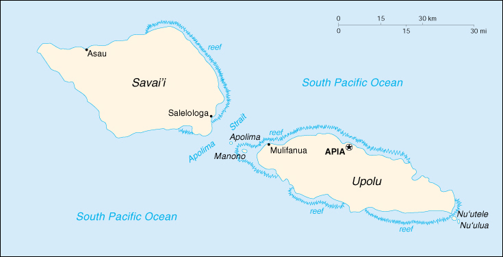 WPS Port of Apia satellite map