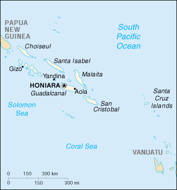 WPS - Port of Honiara satellite map Honiara Map