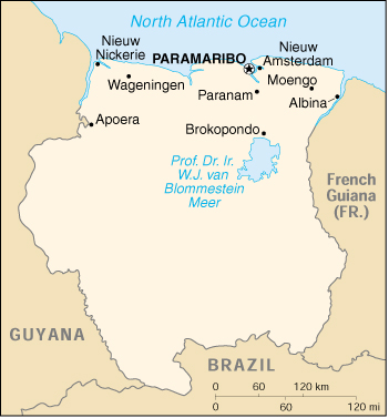 WPS Port Of Paramaribo Satellite Map - paramaribo map
