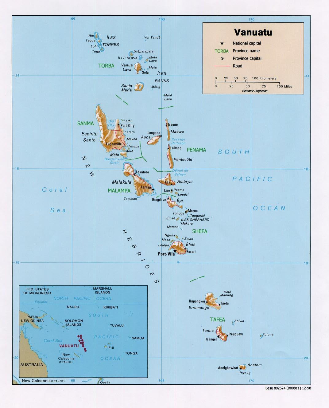 WPS Port Of Port Vila Shipping - Vanuatu map