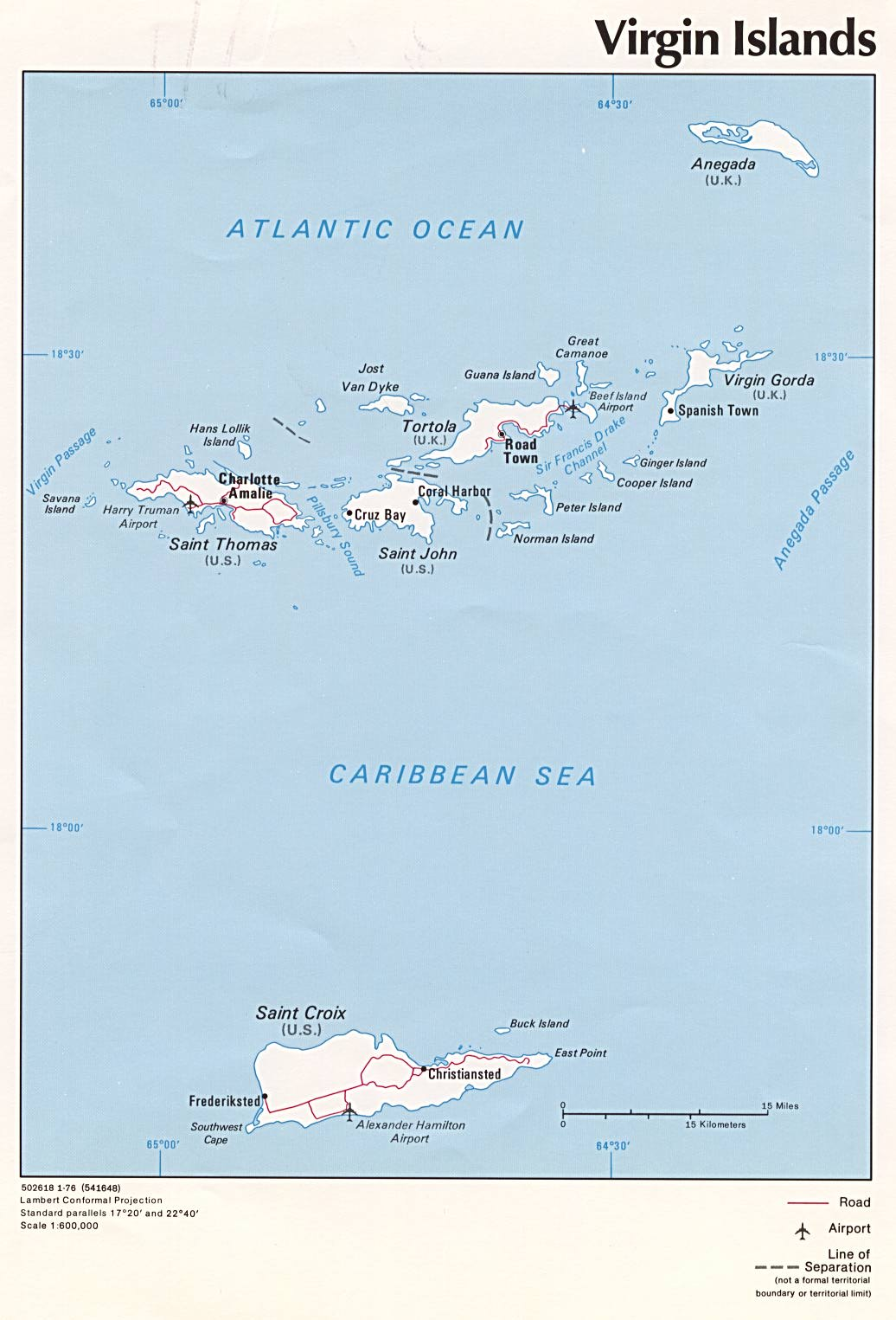 country list virgin islands us