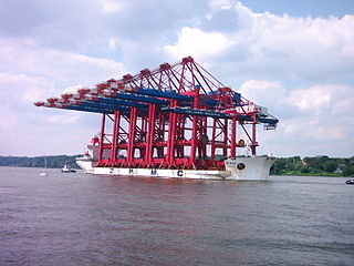 Transport of five gantry cranes for Eurogate Container-Terminal