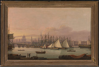 <i>The Port of London</i><br>by Thomas Luny