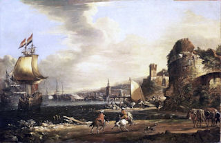 <i>Port of Genua 1660</i><br>by Adriaen van der Cabel