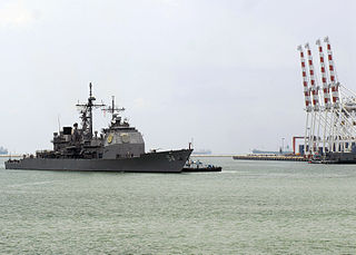 <i>USS Antietam</i> (CG 54) at Port of Laem Chabang