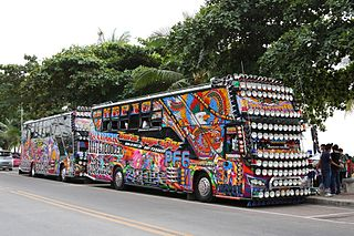 Colorful buses in Pattaya