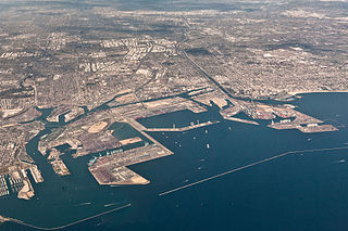 Aerial View<br>Ports of Los Angeles and Long Beach