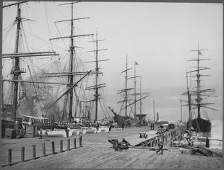 On the wharves<br>San Francisco, 1900