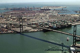 Vincent Thomas Bridge and the Port of Los Angeles