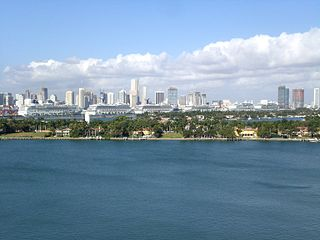 Miami skyline from Miami Beach