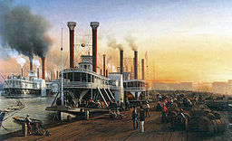 Steamboats at New Orleans, 1853